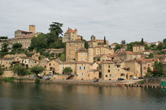 The city of Puy-lEvêque - France Royalty Free Stock Photo