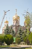 The city of Pyatigorsk. Construction of the temple Royalty Free Stock Photography