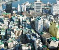 City quarters. Busan, South Korea - November 28th, 2015: Busan, view of city Busan from Busan Tower in Yongdusan Park Royalty Free Stock Photo