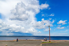 City quay of Onego lake in summer Stock Images