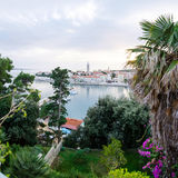 City of Rab, on an island Rab in Croatia, view at old city center and port Royalty Free Stock Photos