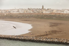 The city of Rabat, capital of Morocco. Viewed from the seaside stock photo