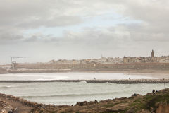 The city of Rabat, capital of Morocco. Viewed from the seaside stock photos