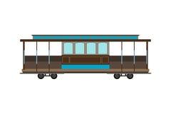 City railway tram transport vector illustration. Stock Image