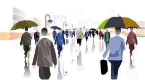 City Rain stock illustration