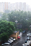City rain Stock Photos