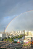 City rainbow Royalty Free Stock Photography