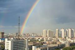 City rainbow Royalty Free Stock Photos