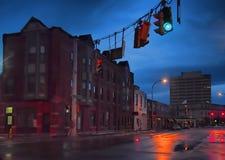 City on rainy night Stock Photo