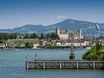 City of Rapperswil in Switzerland Stock Images