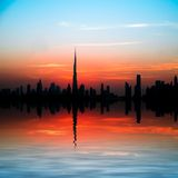 City in the rays of the setting sun Royalty Free Stock Photography