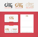 City real estate logo Royalty Free Stock Photo
