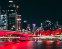 City Red Bridge stock photo