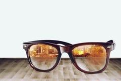 City Refect on Sunglass III Stock Photo