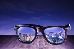 City Refect on Sunglass Royalty Free Stock Image