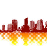 City with reflectio. Vector Royalty Free Stock Image