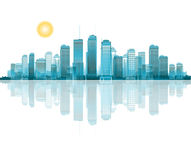 City reflection stock illustration