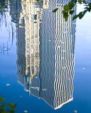 City in reflection. Center Park NY . Royalty Free Stock Image