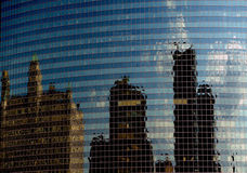 City Reflection of Chicago, Illinois, Modern Buildings Stock Images