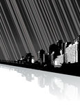 City with reflection and lines. Royalty Free Stock Photos