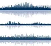 City reflections royalty free illustration