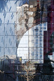 City reflections. In the glass exterior of the new market hall in Rotterdam Stock Photography