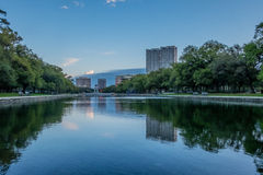 City Reflections in a Lake Stock Photography