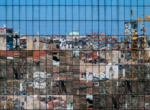 City reflections in new building glass Stock Images