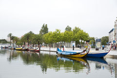 City reflections in the river,Aveiro Portugal. Europe Stock Photography