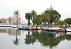 City reflections in the river,Aveiro Portugal Stock Photos