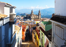 City with Renaissance Cathedral. Jaen Stock Image