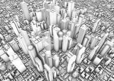 City render Stock Image