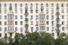 City residential building facade Royalty Free Stock Image