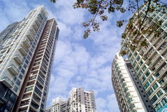 City residential buildings Royalty Free Stock Photography