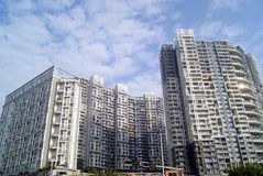 City residential buildings Stock Image