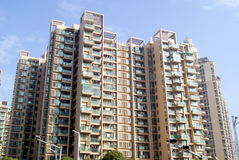 City residential buildings Royalty Free Stock Images