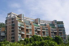 City residential buildings Stock Photo