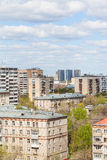 City residential district in sunny day Royalty Free Stock Photos