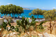 City Rethymno on beach of Island Crete royalty free stock images