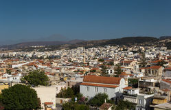 The city Rethymnon Crete. City rethymnon Crete, the view from the fortress over the city Royalty Free Stock Photos