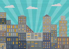 City in retro style Stock Images