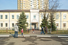City Reutov. Building of the school built in 1888 Stock Image