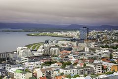 City of Reykjavik panorama Royalty Free Stock Photography