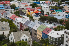 City of Reykjavik from the top Stock Image