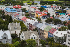 City of Reykjavik from the top Royalty Free Stock Images