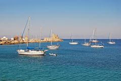 The city of Rhodes Stock Images