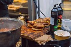 City Riga, Latvia. Street Restaurant food festival.