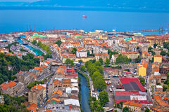 City of Rijeka aerial view Stock Image