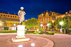 City of Rijeka square and architecture evening view royalty free stock image