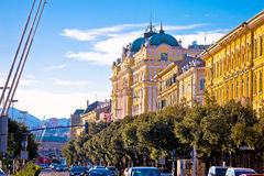 City of Rijeka waterfront steet architecture view Royalty Free Stock Photo